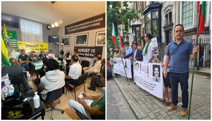 Brussels: Participants of protest, seminar condemn Indian brutalities in Kashmir