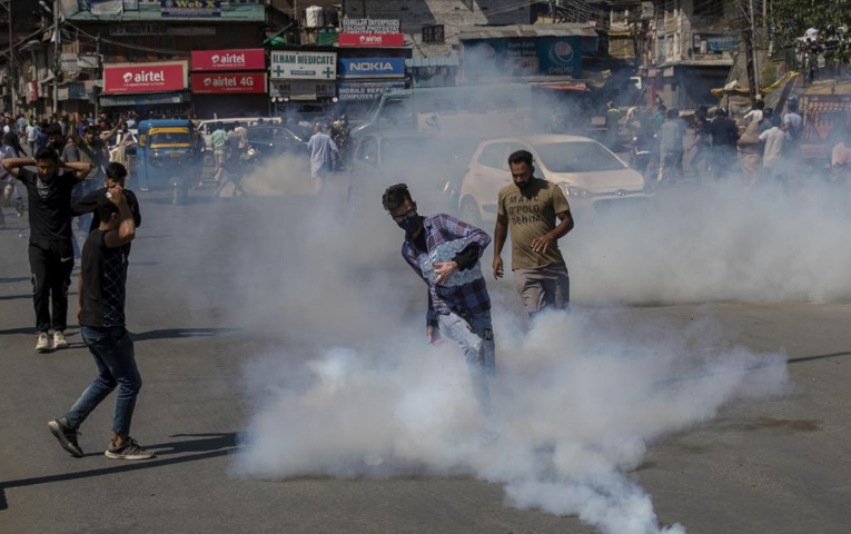 Police fire tear gas to break up Muharram procession in Indian occupied Kashmir